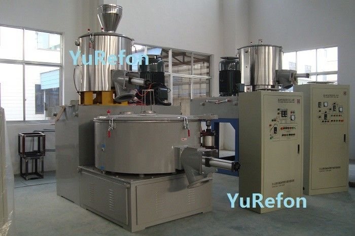 RKC Temperature Control PVC Mixer Machine , Plastic PVC High Speed Heater Cooler Mixer